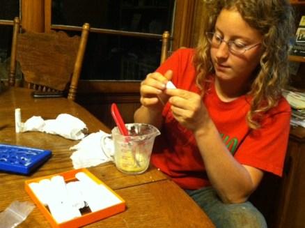 LORI making chapstick