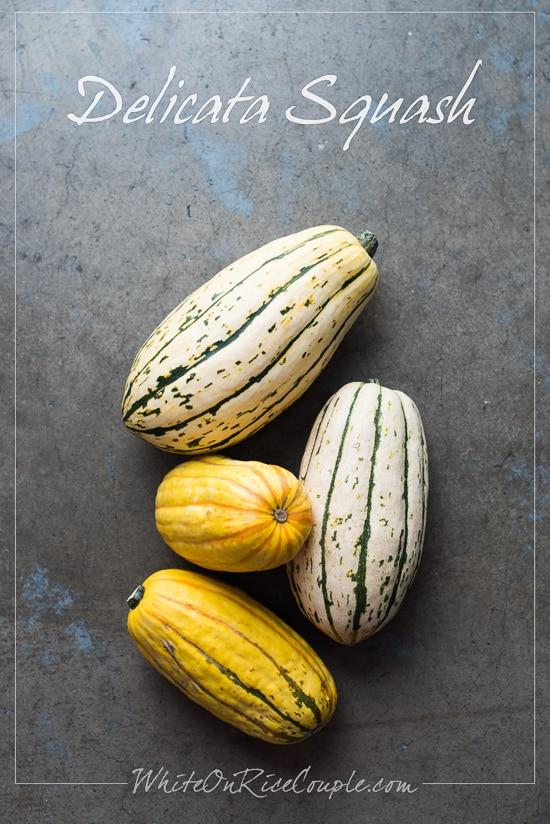 Winter Squash and Pumpkin Guide: Delicata Squash   @whiteonrioce