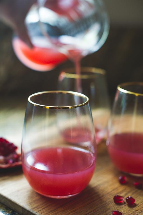 Pomegranate Gin Cocktail (Or Vodka) Cocktail for Celebrating   @whiteonrice