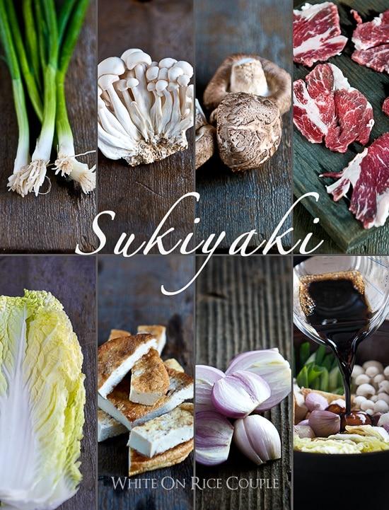Japanese Hot Pot Recipe or Beef Sukyaki Recipe @whiteonrice