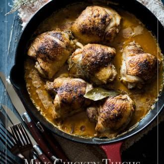 Baked Chicken Thighs Recipe in Milk - @whiteonrice
