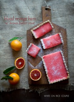 Blood Orange Bars with Brown Butter Crust on WhiteOnRiceCouple