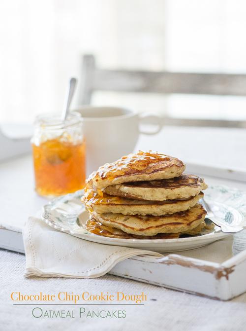 cookie dough oatmeal pancakes