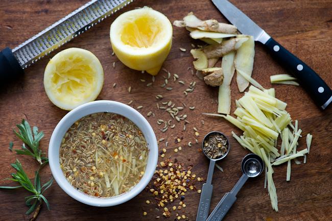 Easy Quick Vegetable Fridge Pickles on WhiteOnRicecouple.com