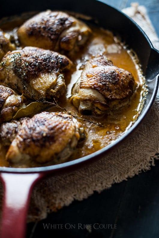 Baked Milk Chicken Thighs in Milk: Super Juicy & Amazing and Best Chicken Thigh Recipe | @whiteonrice