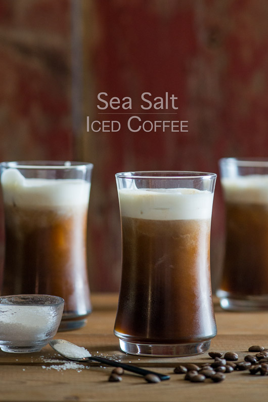 Sea Salt Iced Coffee Recipe with Sea Salt Cream from @whiteonrice