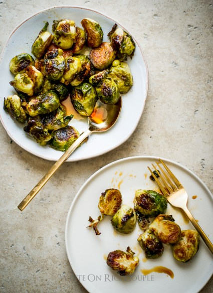 Teriyaki Glazed Brussels Sprouts Recipe from @whiteonrice