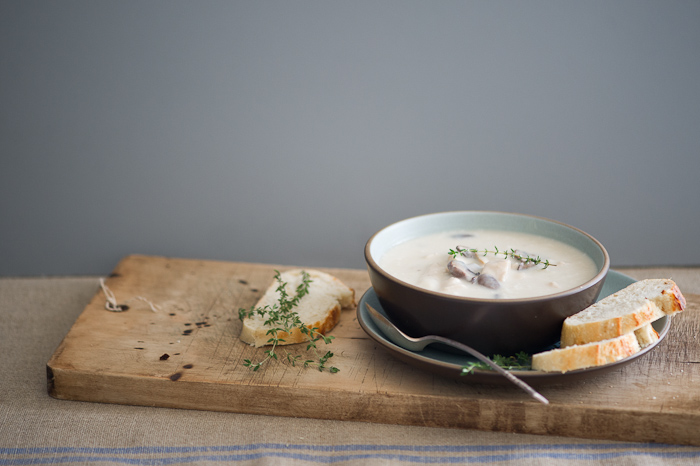 Creamy Turkey Potato Soup Recipe on @whiteonrice