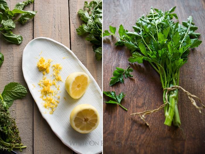Watermelon Salad Recipe with Arugula, Feta, Mint or Fresh Herbs | @whiteonrice