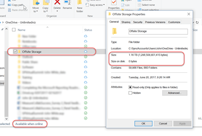 Files On Demand in File Explorer