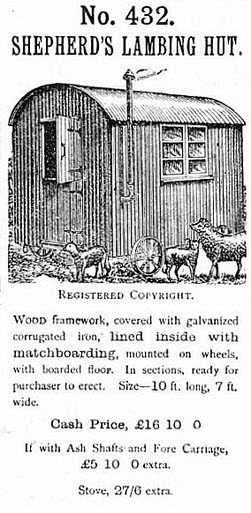Historic lambing hut advert