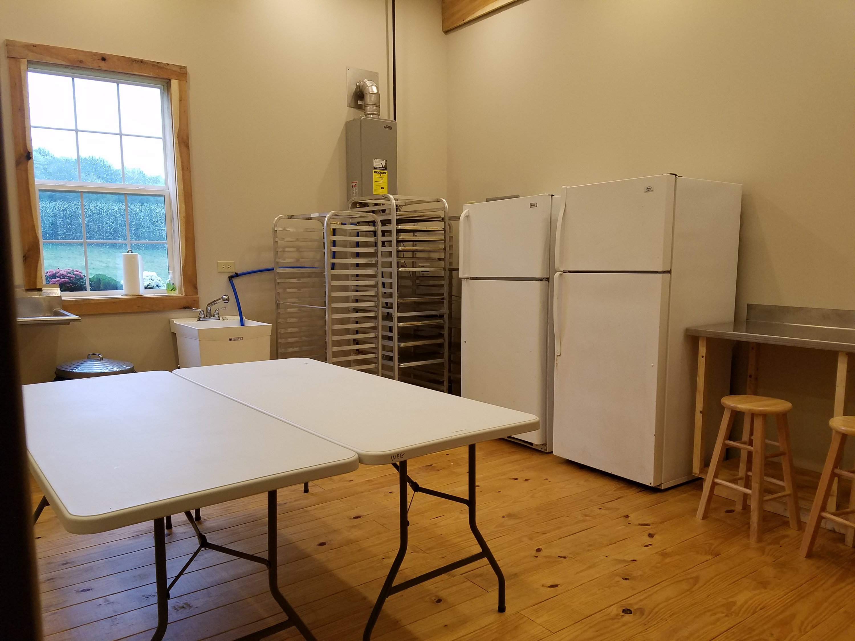 Spacious kitchen at White Pine Grove. Your caterers will thank you!