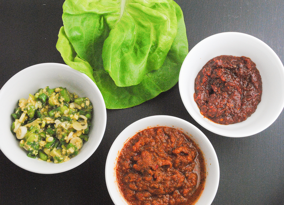 condiments for beef lettuce wraps