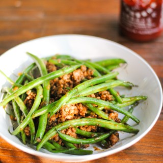 Stir-fried pork and green beans