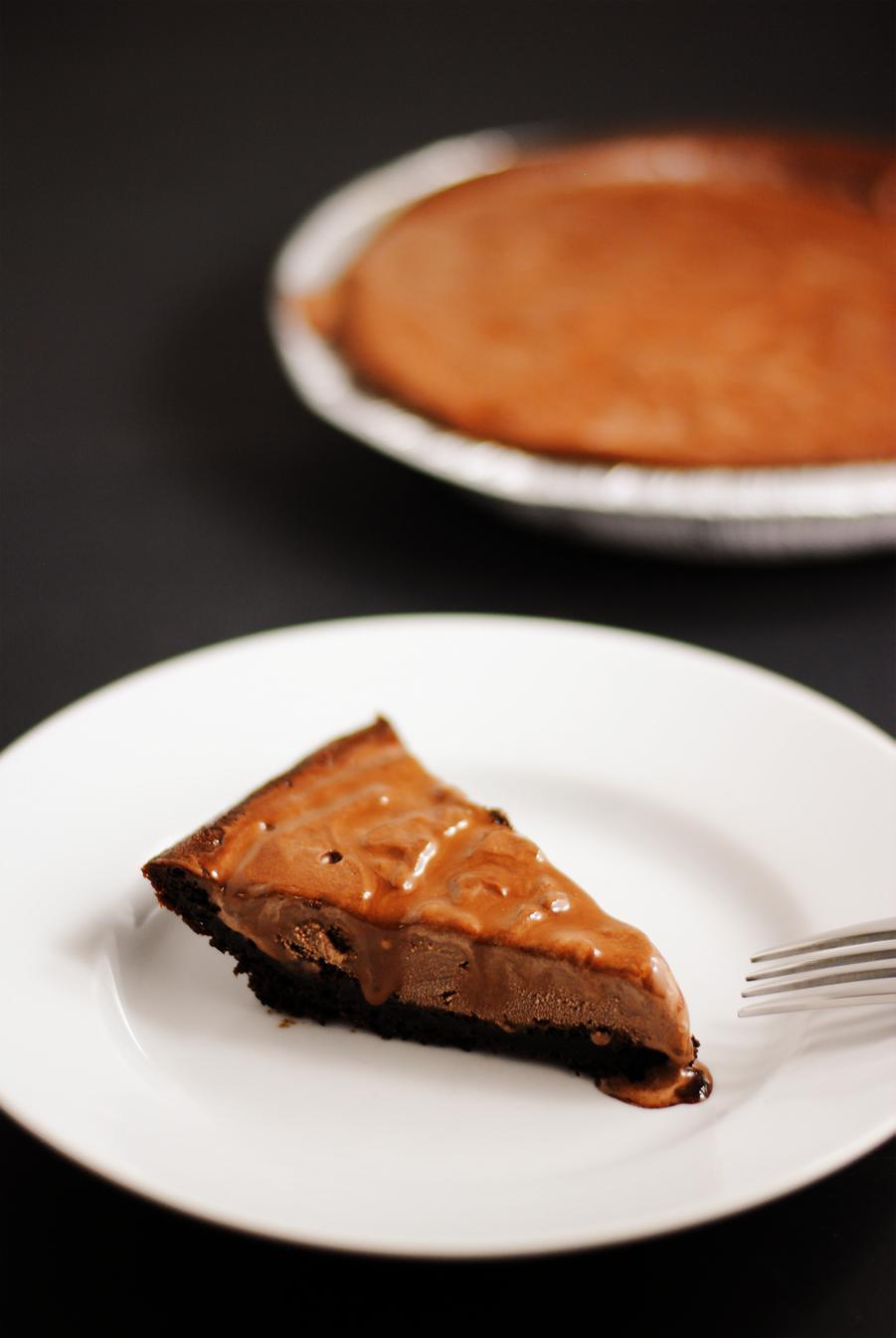 Triple chocolate ice cream pie