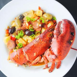 Portuguese lobster stew
