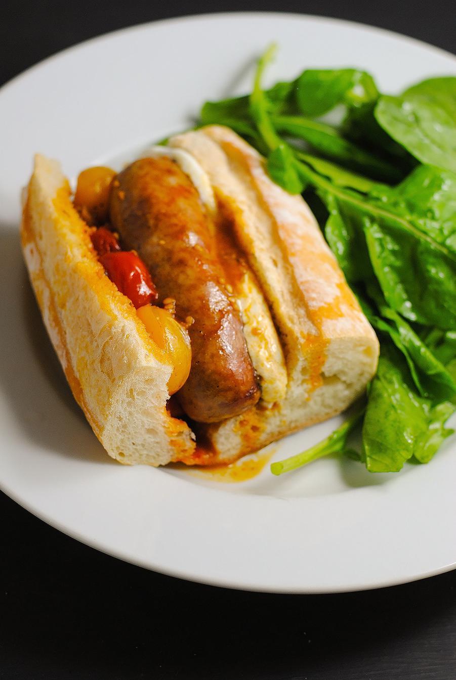 Italian sausage subs