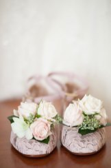 Garcia Wedding-Bride shoes with live flowers