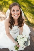Garcia Wedding-Bride with bridal bouquet