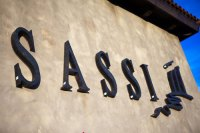 Sign for Sassi in Scottsdale