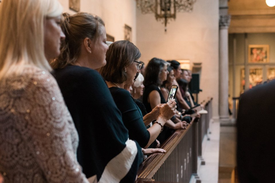 Guests watch the Grand Staircase ceremony at the Art Institute of Chicago