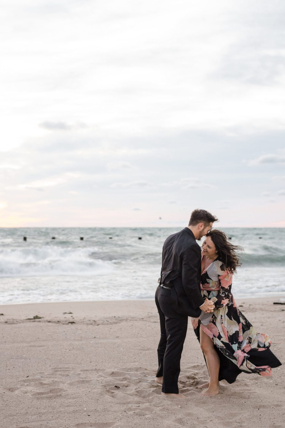 Young couple on North Avenue Beach