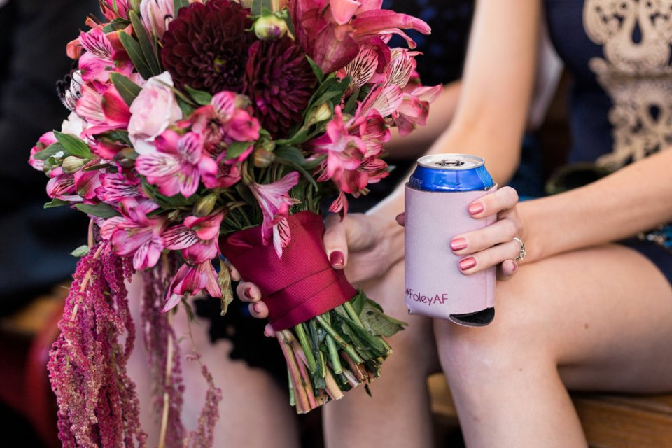 Customized wedding koozie