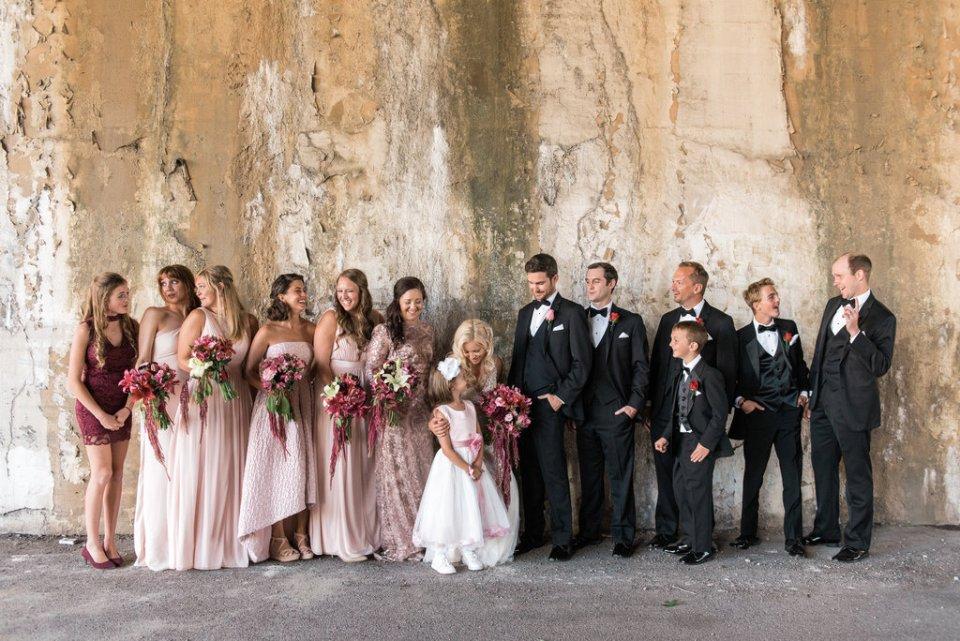 Wedding party photos in West Loop