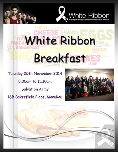 White Ribbon Breakfast Auckland