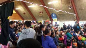 Crowd at the Whanau Fun Day