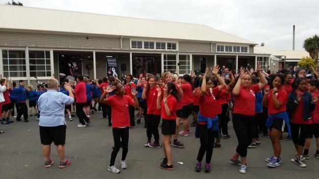 Dancing at Riccarton School