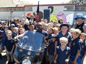 The kids from Hamstead school in Ashburton.