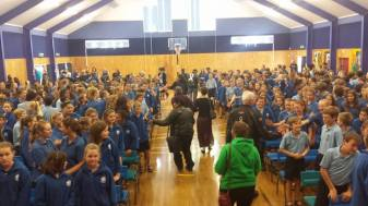 Greetings from the tamariki at Cambridge Intermediate