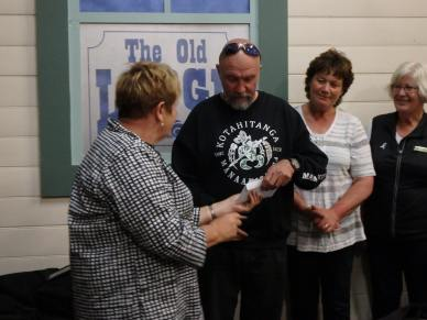 White Ribbon ...tea at The Old theatre in Hokitika, hosted by Hokitika Soroptmists ladies Rayleen, Nicole, Joe, Sue , Chris and Amanda. These wonderful ladies then gifted us some fuel vouchers to help riders with travel expenses.