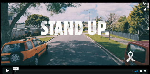 Stand up video header