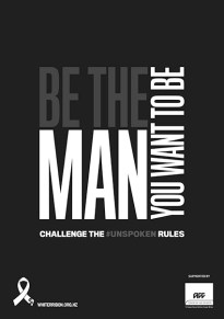White Ribbon 2019 Poster A3 Be the Man 72 dpi