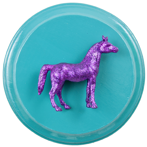 Purple Horse on Teal (WhiteRosesArt.com)