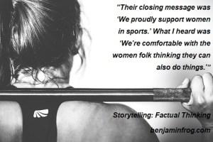 Woman weight training.