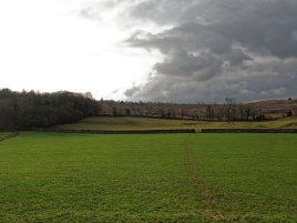 Looking back towards Helsington Barrows with Warriner's Wood to the left