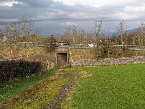Underpass at A591 near Helsington Laithes