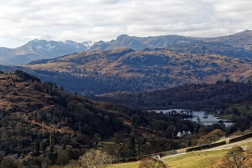 Rydal Water with Langdales