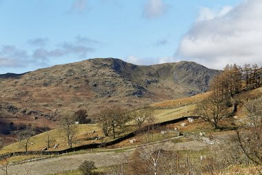 Heron Pike in distance, with Low Pike path in foreground