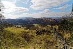 Towards Loughrigg from Scandale path