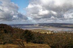 Grange-Over-Sands in distance from Arnside Knott