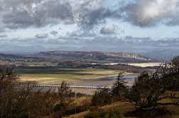 View of the viaduct and Whitbarrow from Arnside Knott