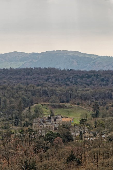 Witherslack Hall from Whitbarrow Scar