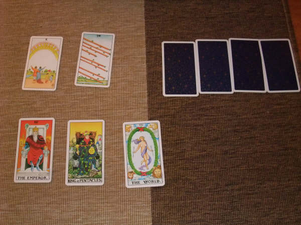 Sometimes a positive outcome is as simple as turning cards.