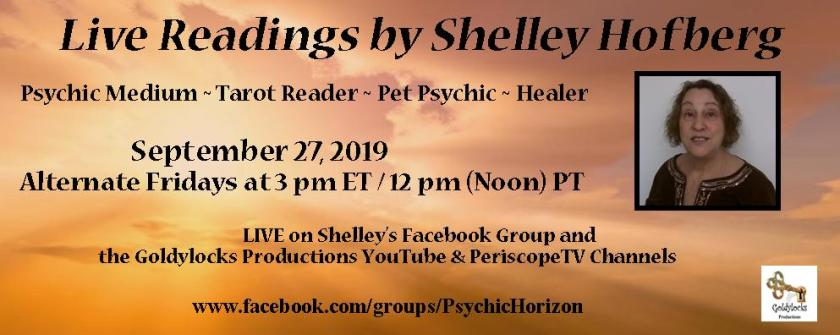 Shelley Hofberg Live Readings Banner