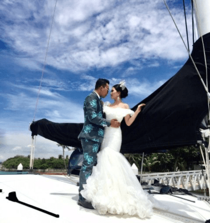 Wedding photoshoots can take place onboard White Sail's SunRise