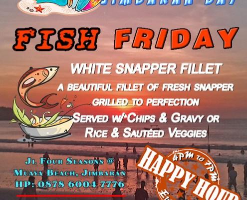 White Sands Beach House Jimbaran Fish Fridays